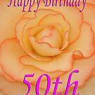 Happy 50th Birthday Flower by martinspixs