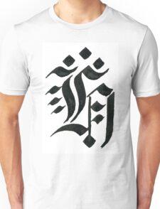 Gothic letter H Unisex T-Shirt