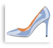High Heeled Shoe in Serenity Blue Canvas Print