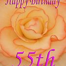 Happy 55th Birthday Flower by martinspixs
