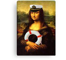 Mona Lisa Ahoy Canvas Print