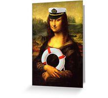 Mona Lisa Ahoy Greeting Card