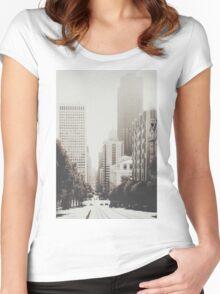 San Francisco I T-shirt femme moulant à col profond
