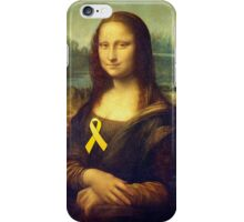 Mona Lisa With Yellow Ribbon iPhone Case/Skin