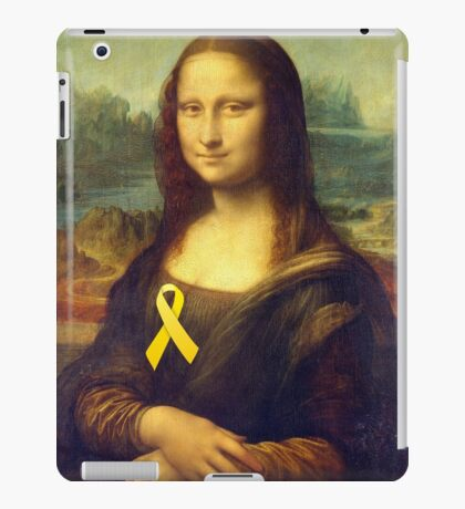 Mona Lisa With Yellow Ribbon iPad Case/Skin
