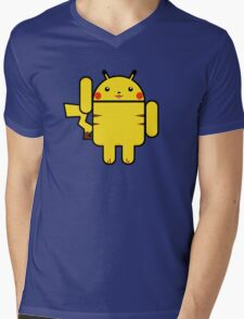 Electro Droid Mens V-Neck T-Shirt