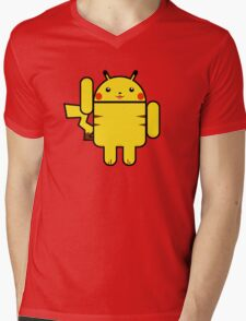 Electro Droid Mens V-Neck T-Shirt
