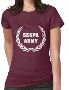 Segpa Army - Logo Version Blanche Womens Fitted T-Shirt