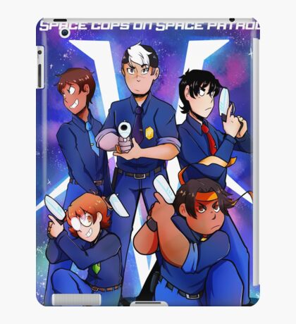Space cops on space patrol iPad Case/Skin