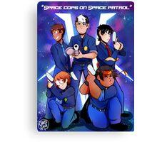 Space cops on space patrol Canvas Print