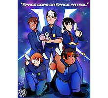 Space cops on space patrol Photographic Print