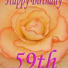 Happy 59th Birthday Flower by martinspixs