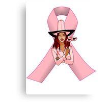 Breast Cancer Pink Ribbon Awareness Canvas Print