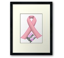 Breast Cancer Pink Ribbon Awareness Framed Print