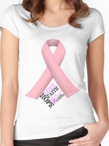Breast Cancer Pink Ribbon Awareness Women's Fitted Scoop T-Shirt