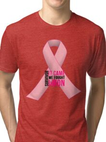 Breast Cancer Pink Ribbon Awareness Tri-blend T-Shirt