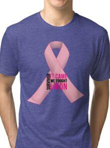 Breast Cancer Pink Ribbon Awareness Tri-blend T-Shirt