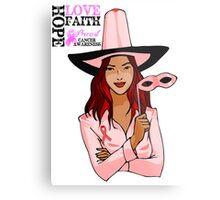 Breast Cancer Pink Ribbon Awareness Metal Print