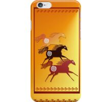 Three Ancient Horses iPhone Case/Skin