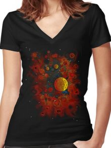 Planet Nursery * Women's Fitted V-Neck T-Shirt