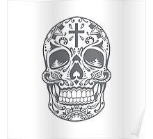 Sugar Skull Grey Poster