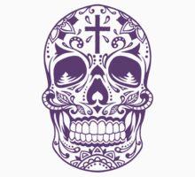 Sugar Skull Purple Kids Clothes