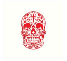 Sugar Skull Red Art Print