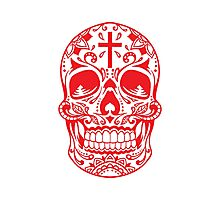 Sugar Skull Red Photographic Print