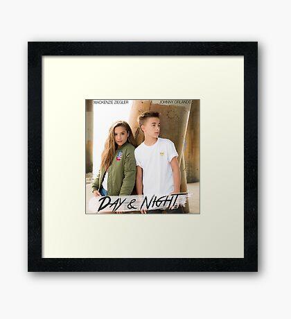 Day And Night - Johnny Orlando and Mackenzie Ziegler Framed Print