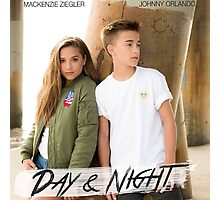 Day And Night - Johnny Orlando and Mackenzie Ziegler Photographic Print