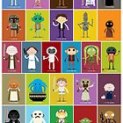 The Star Wars Alphabet by striffle