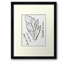 Leaf on the wind 2 Framed Print