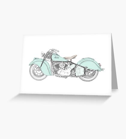 Indian Chief Motorcycle 1948  Greeting Card