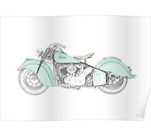 Indian Chief Motorcycle 1948  Poster