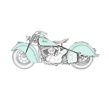 Indian Chief Motorcycle 1948  Photographic Print