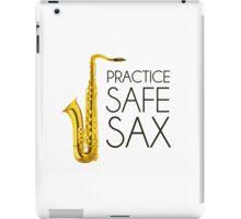 Practice Safe Sax iPad Case/Skin