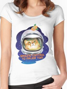 Ground Control to Major Tom Women's Fitted Scoop T-Shirt