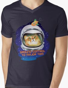 Ground Control to Major Tom Mens V-Neck T-Shirt