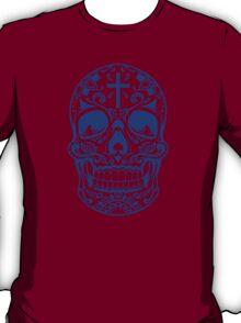 Sugar Skull Blue T-Shirt