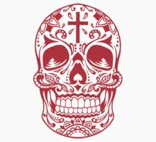 Sugar Skull Red Kids Clothes