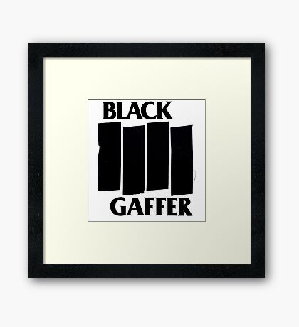 Black Gaffer Framed Print