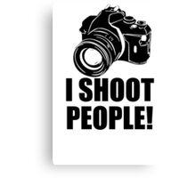I Shoot People T-Shirt Funny Photographer TEE Camera Photography Digital Photo Canvas Print