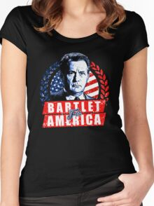 jed bartlet  Women's Fitted Scoop T-Shirt