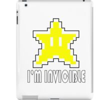 I'm Invincible T-Shirt Super Funny Mario TEE Monty Python Bro Gaming Brothers iPad Case/Skin
