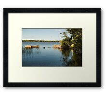 Summer view of the river.  Framed Print