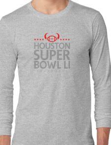 Super Bowl LI 2017 horns blk Long Sleeve T-Shirt