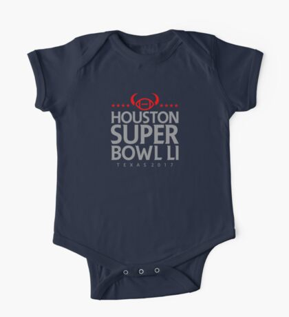 Super Bowl LI 2017 horns blk One Piece - Short Sleeve