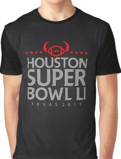 Super Bowl LI 2017 horns blk Graphic T-Shirt