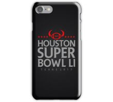 Super Bowl LI 2017 horns blk iPhone Case/Skin
