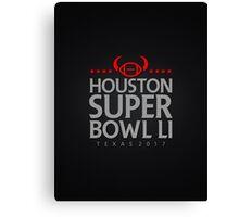 Super Bowl LI 2017 horns blk Canvas Print